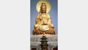 Guanyin-Bronzestatue in Shandong zerstört