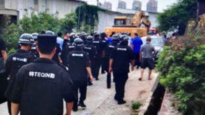 fliehen, China, Zwangsräumung