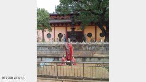 buddhistischen Tempel, zerstört