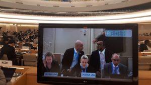 Menschenrechtsrat der Vereinten Nationen in Genf am 13. März 2019