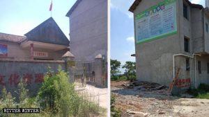 Ein Versammlungsort wurde mit Gewalt demoliert.