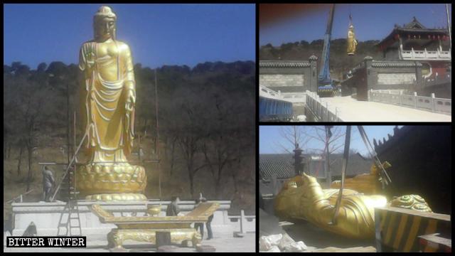 Buddha-Statue am Yongning Tempel