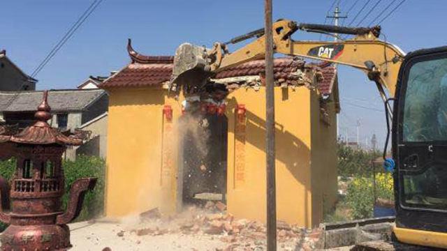 6000 Tudi-Tempel in der Stadt Gaoyou wurden zerstört