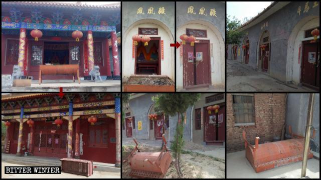 Der Große Fenghuangding-Tempel wurde geschlossen