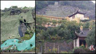Tempel angewiesen, Hunderte von buddhistischen Außenstatuen zu verhüllen