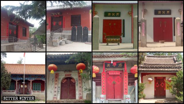 Mitte Mai wurden in der Großgemeinde Guangwu achtzehn Tempel geschlossen.