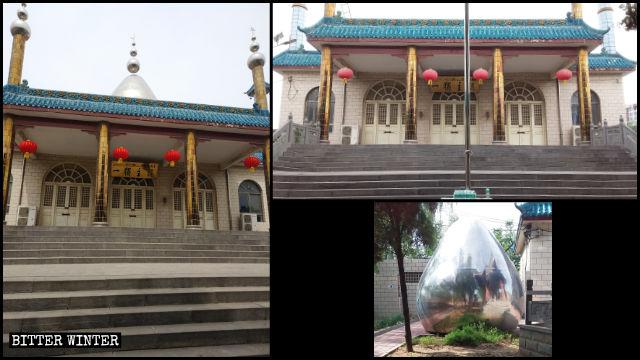 Die Kuppel und die Halbmond- und Sternsymbole wurden entfernt.