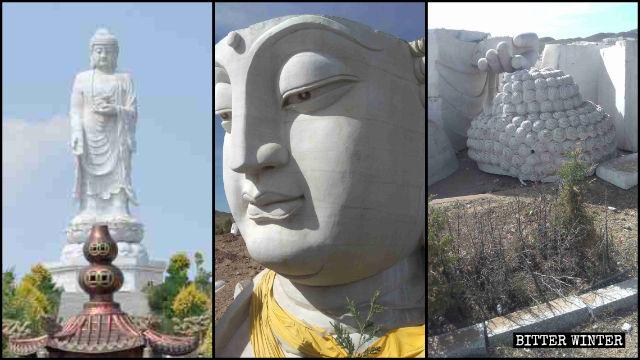 Die Statue in der Inneren Mongolei wurde abgerissen.