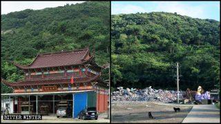"""""""Illegale Gebäude"""": Zhejianger Behörden zerstören Tempel"""