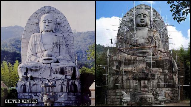 Statue von Kṣitigarbha
