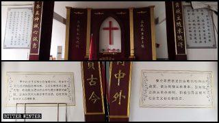 In den Kirchen werden die Zehn Gebote durch Zitate von Xi Jinping ersetzt