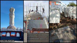 Buddhistische Skulpturen von hohem künstlerischen Wert zerstört